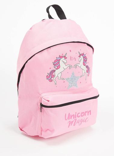 DeFacto Kız Çocuk Unicorn Baskılı Sırt Çantası Pembe